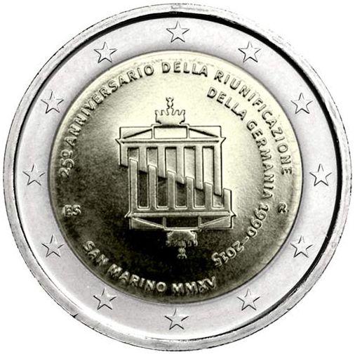 Oficiálne bal. 2 Euro San Marino 2015, 25. výročie zjednotenia Nemecka