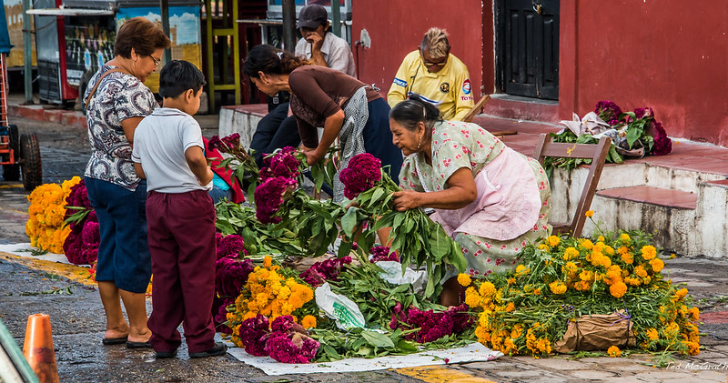 2015 - MEXICO - Chiapa de Corzo - Dia de Muertos Flowers