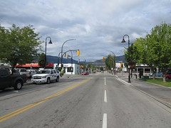 Westminster Avenue, looking west (RCMP police vehicle on the left)