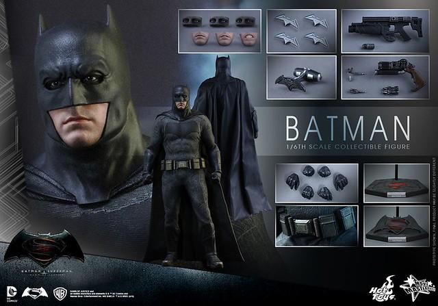 Hot Toys – MMS342 – 蝙蝠俠對超人:正義曙光【蝙蝠俠】Batman 1/6 比例人偶作品