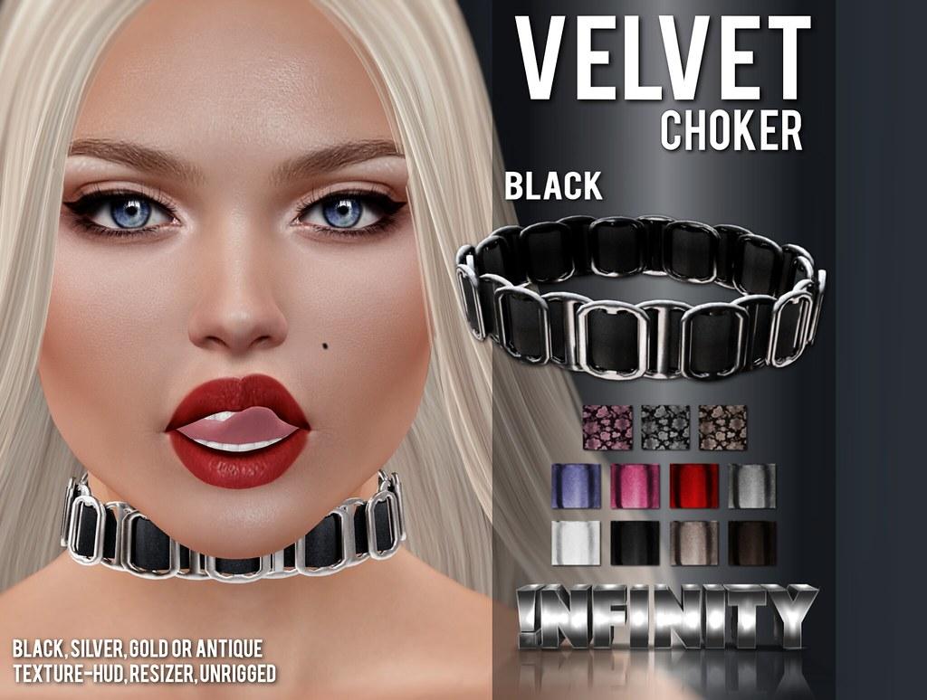 !NFINITY Velvet Choker at BUY NOW - january round - SecondLifeHub.com