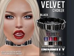 !NFINITY Velvet Choker at BUY NOW - january round