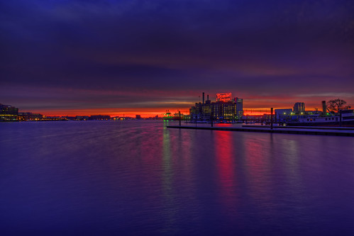 baltimore md maryland dominosugars sunrise sign plant patapscoriver colorful sky clouds twilight dawn bluehour goldenhour hdr highdynamicrange craigfildesfineartamericacom