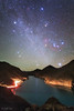 Winter Hexagon over Manla Reservoir Image Credit & Copyright: Jeff Dai (TWAN) Explanation: If you can find Orion, you might be able to find the Winter Hexagon. The Winter Hexagon involves some of the brightest stars visible, together forming a large and e