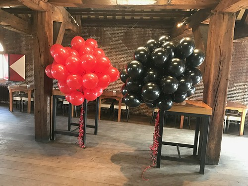 Heliumballonnen Visbrasserie de Poort Leiden