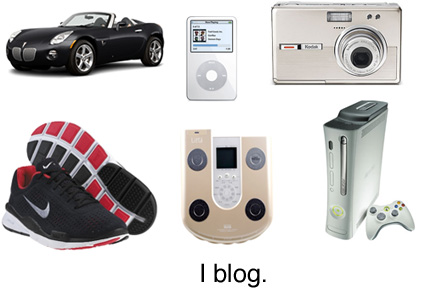 Gadgets are blogging