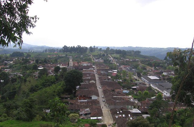 Imagen panorámica de Salento, Colombia