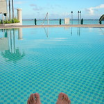 Beside the pool