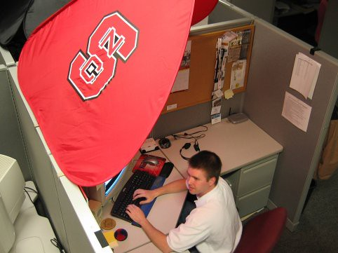 Gary Hoke S Office Cubicle With Ncsu Cubeshield Flickr