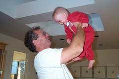 Grandpa n Nick up in the air