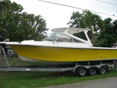 jon boat, vehicle, skiff, boat trailer, boating, motorboat, watercraft, boat,