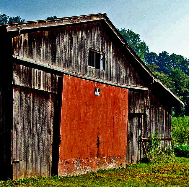 Photo:Orange Barn Door By dok1