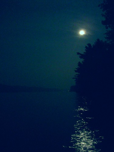 moon lake night maine belgrade