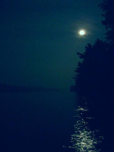 moon lake night maine belgrade