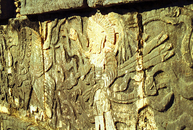 Mayan stone carving carved stonework from the principal