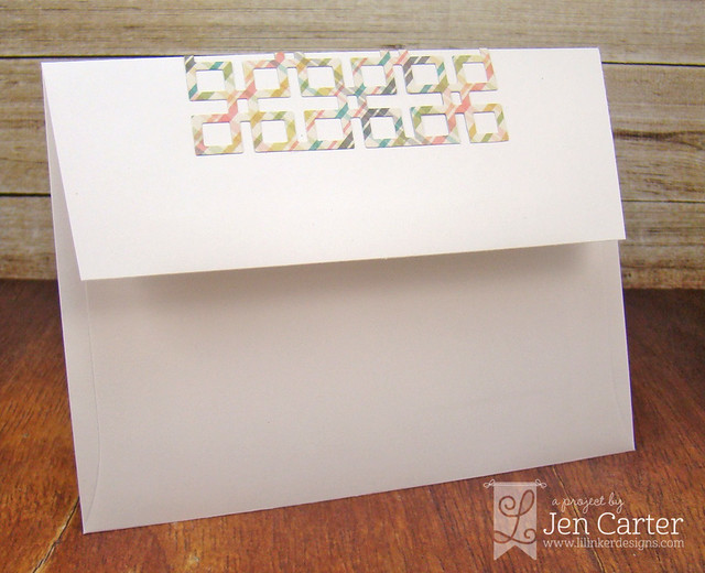 Jen Carter Lattice Envelope Flap