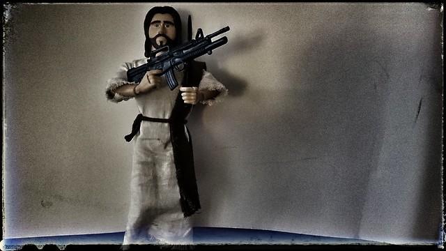 Jesus is packin' heat!!
