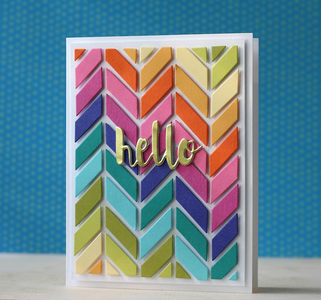 SSS-Chevron Pattern ful card die