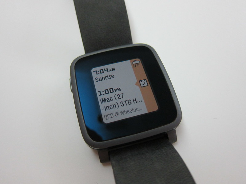 Pebble Time Steel Watch - Timeline
