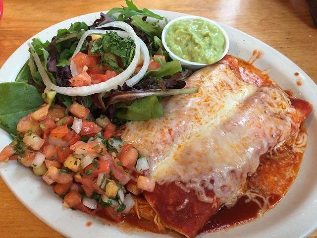 Chicken mole enchiladas - Zapata Mexican Grill