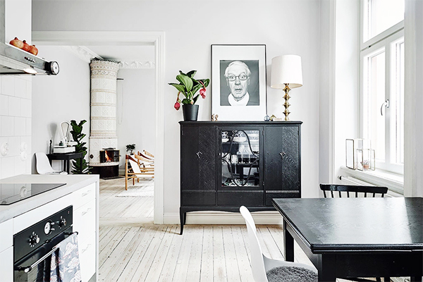 Minimalist Home with Antique Elements