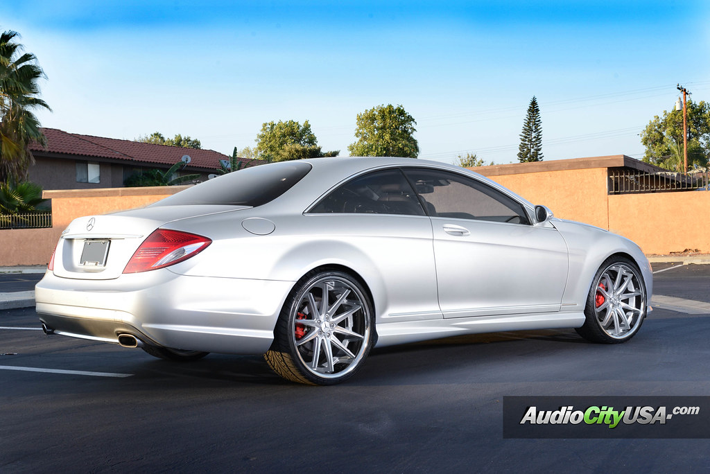 22 Quot Asanti Wheels Abl 5 Silver Machine On 2009 Mercedes
