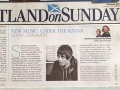 Scotland On Sunday, Gerry Cinnamon
