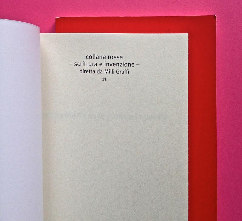 Edizioni del Verri / Collana rossa. Progetto grafico di Valerio Anceschi e Giovanni Anceschi. Pagina dell'occhiello, a pag. 1 (part.), 1