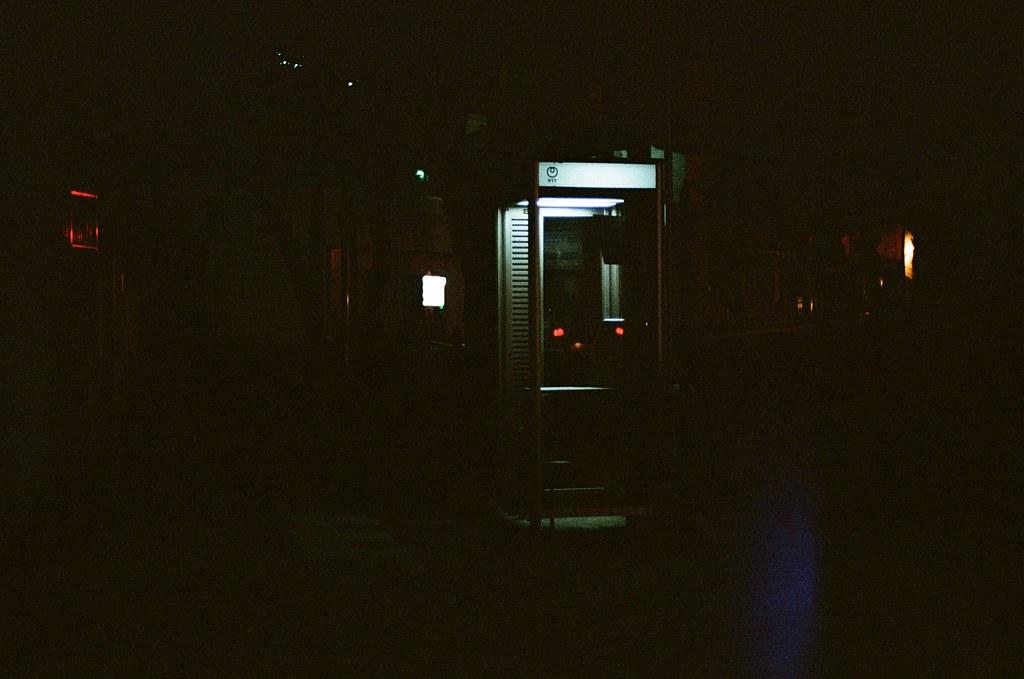 電話亭 長崎 Nagasaki 2015/09/07 很暗很暗的電話亭。  Nikon FM2 / 50mm Kodak UltraMax ISO400 Photo by Toomore