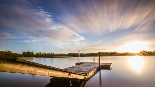 longexposure lake water sunrise finland landscape dawn petäjävesi
