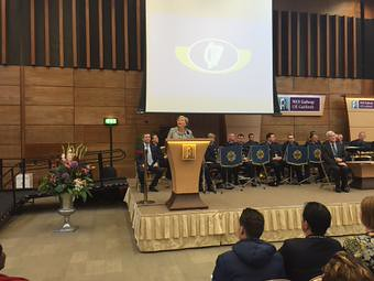 Minister Fitzgerald gives a speech at Citizenship Ceremony - NUI Galway