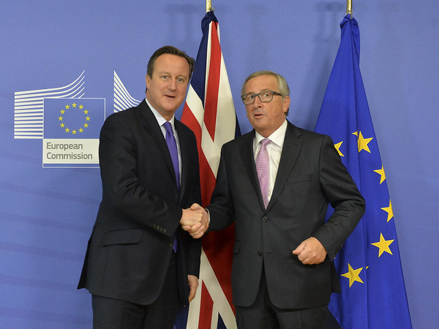 David Cameron meets with President Juncker in Brussels