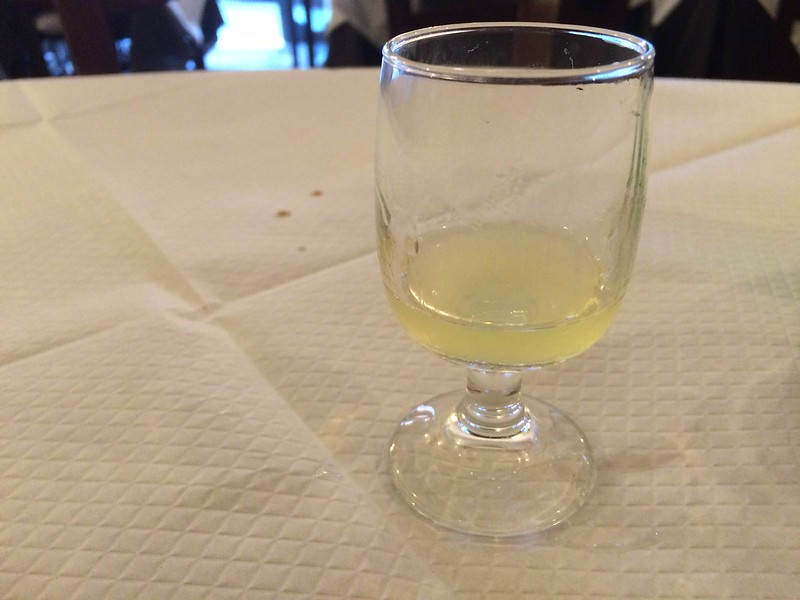 Limoncello at Da Francesco.