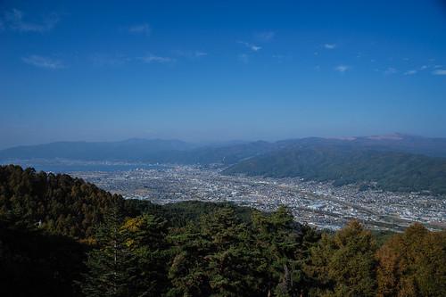 峠の茶屋からの景色