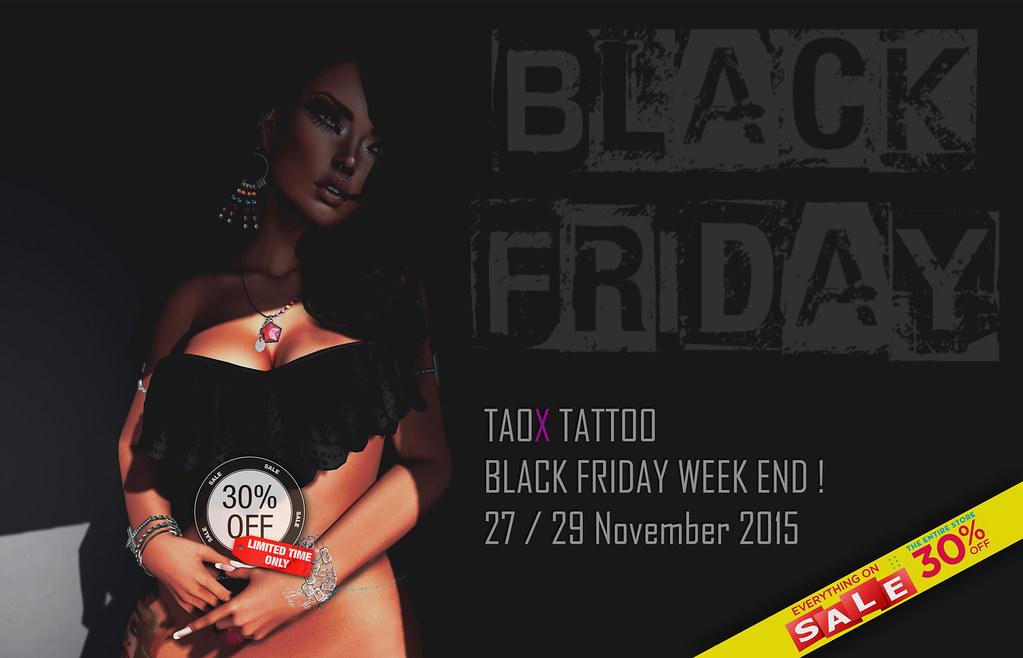 TAOX TATTOO BLACK FRIDAY SL  WEEK END 2015
