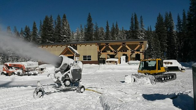Snowmaking now at Soda Springs