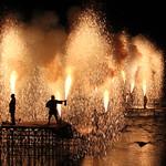 Tezutsu, hand-held fireworks, Takayama, Japan