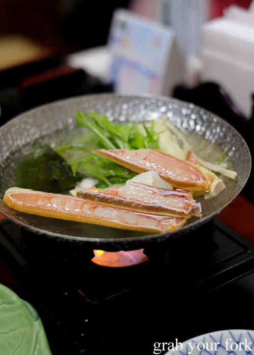 Kanisuki crab hot pot at Kani Honke in Sapporo, Hokkaido