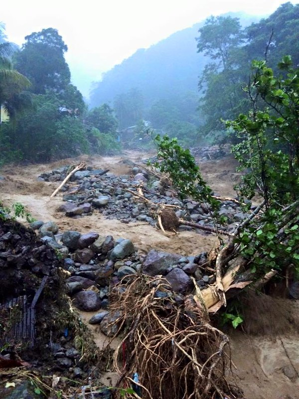 Tropical Storm Erika's Destruction - Dominica -