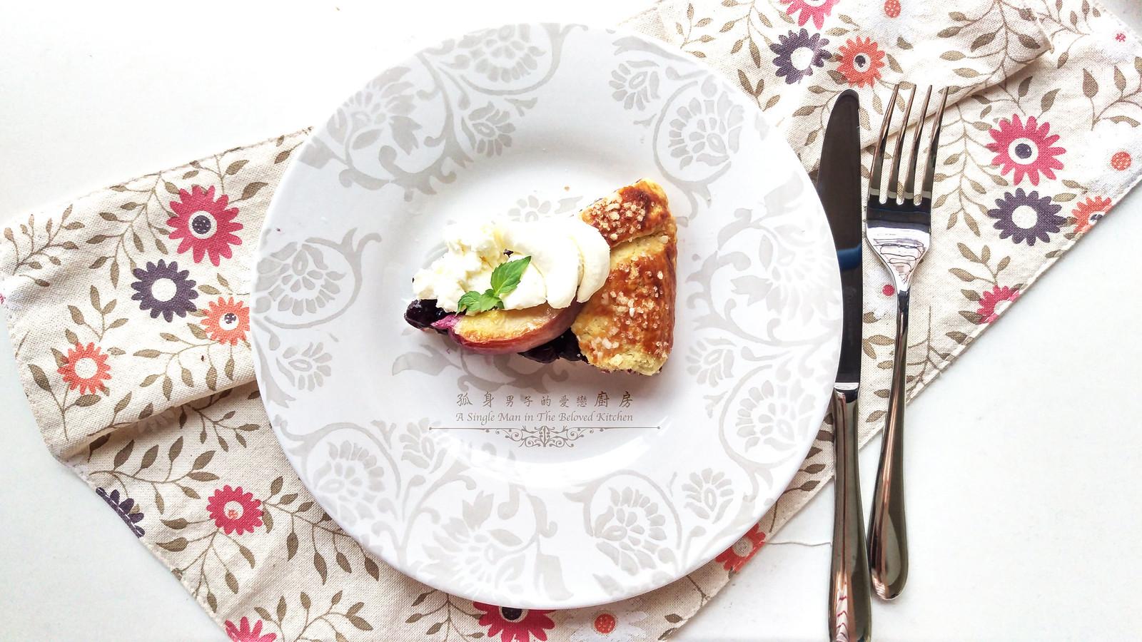 孤身廚房-藍莓甜桃法式烘餅Blueberry-Nectarin Galette34