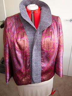 Tweed and silk jacket
