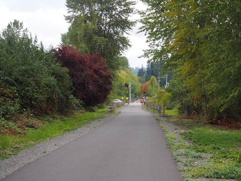 East Lake Sammamish Trail: The most recently paved section.