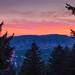 Sunset Over Portland by socalpedalpusher