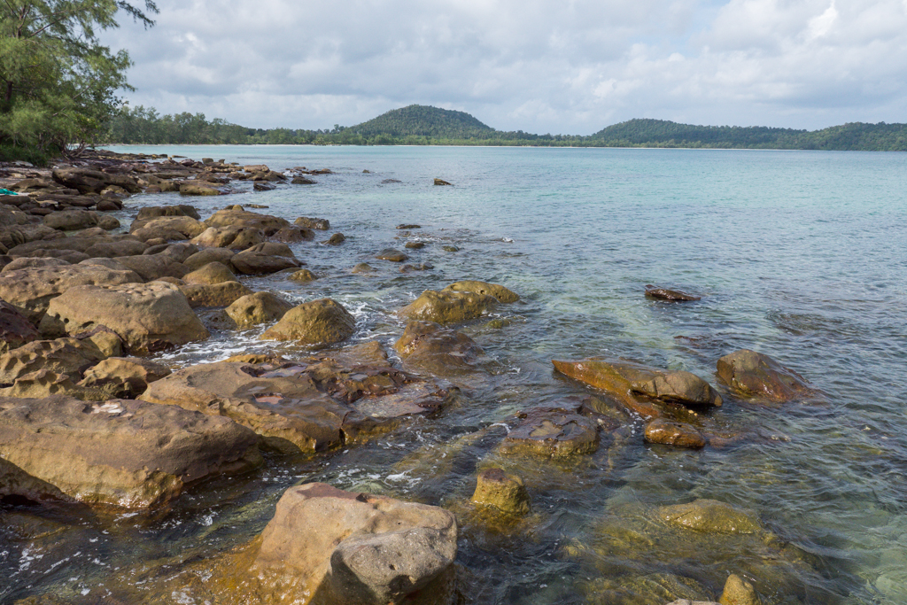 Koh Rong Island rocks on beach best place in Cambodia