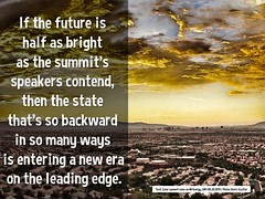 If the future is half as bright as the summit's speakers contend, then the state that's so backward in so many ways is entering a new era on the leading edge @jlnevadasmith @cleanenergyNV #nces8