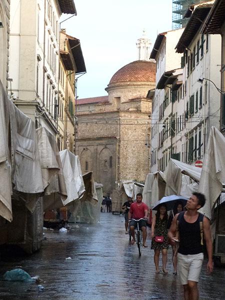 pluie sur Florence