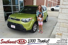 Congratulations Ashley on your #Kia #Soul from James Adams at Southwest KIA Rockwall! #NewCar