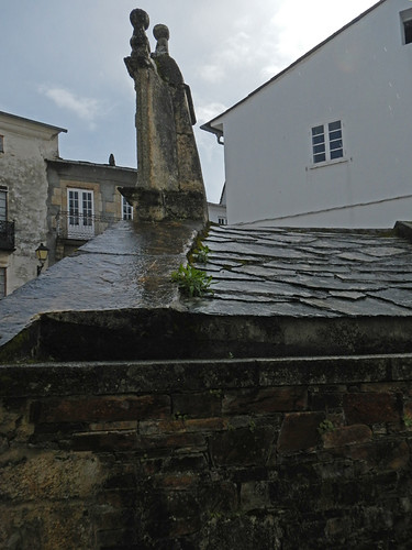 Rain Gleams on a Slate Roof in Mondoñedo