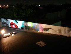 Update. Almost finished  I'm over these night shots already.. Day pics coming soon   #scotch #scotch_willington #stencil #stencilart #stencilism #streetart #muralart #SanAntonio #Texas #graffiti  #elgraffiti #impermanentart #streetartofficial #spratx #ste