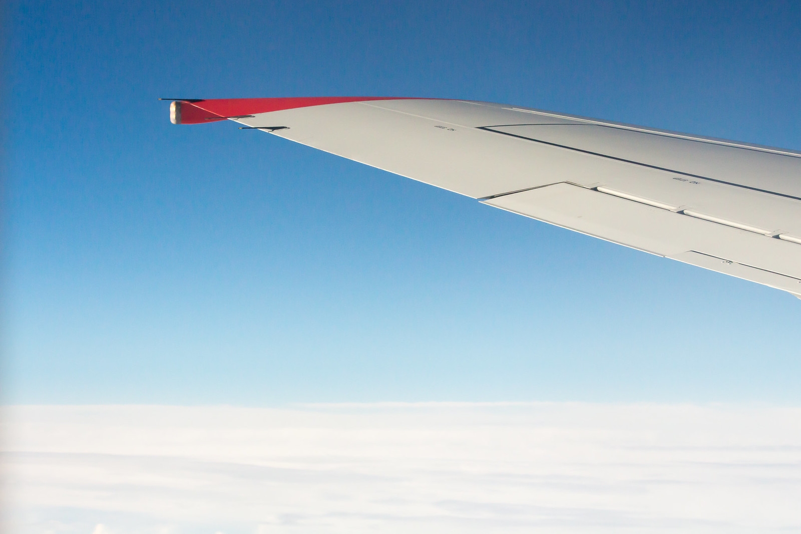 Крылья у нас без винглетов. Boeing 737-700. Не самый новый.
